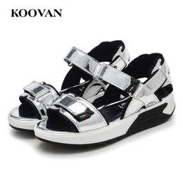 Wholesale Kids High Heel Shoes Girls - Princess Girl Shoe 2017 Kids New Patent Leather Sandals Shoes Koovan Spring Autumn New Korean Wild Black Leather Shoes High Heel K290