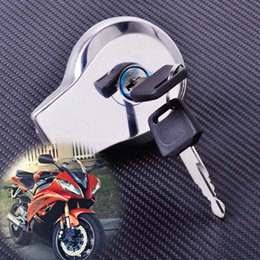 Wholesale Gas Cap Covers Motorcycle - New Motorcycle Fuel Gas Tank Cap Cover Lock + 2PCS Keys fit for Yamaha Virago XV125 Vstar XV250 Virago 400 535 750 1100