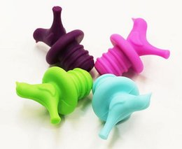 Wholesale Wedding Wine Stoppers - New Bird Design Silicone Wine Stopper Bottle Caps Wedding Gift Wine Pourer Stoppers