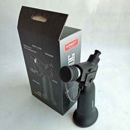 cadeaux plus légers Promotion Honnête rechargeable en métal gonflable réglable flamme gaz coupe-vent butane Jet 1300 briquet torche Pas de gaz avec boîte-cadeau