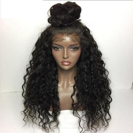 Wholesale African Curly Hair - 180 Density Loose Wave Curly Wigs For African Americans,Virgin Brazilian Human Hair Lace Front Wigs Glueless Full Lace Wigs For Black Women