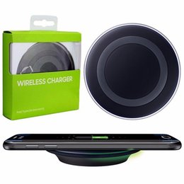 Wholesale Iphone Cable Au - Wireless Charger Universal Qi Wireless Charging Pad Adapter for Samsung Galaxy S8 plus S7 S6 with Package and USB Cable