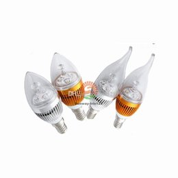 Wholesale Dimmable Led Candle Bulb 3w - E12 E14 E27 3W 6W 9W Cree Led Candle light bulbs dimmable led candelabra bulb lamp lighting 110v 220v warm nature cool white