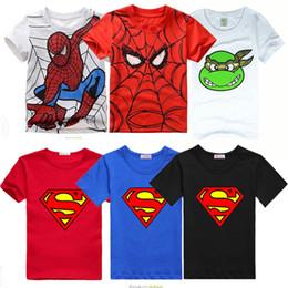 Wholesale Boys Short Sleeve Superman Top - AbaoDo new fashion superman baby boys T shirts 100% cotton kids tops tees summer short sleeve children clothing drop shopping