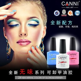 Wholesale Nail Polish 24 Colors - Wholesale- 24 New Colors Glorious Soak Off UV LED Nail Gel Polish Odorless Gel System Varnish CANNI 7.3ml Eco-friendly Nails Care