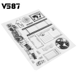 Wholesale Stamping Scrapbook - Wholesale- Clear Stamp Scrapbook DIY Photo Cards Vintage Postcards Postmark 14x18cm Rubber Seal Silicone Transparent Stamp