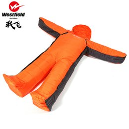 Wholesale Compression Bag Camping - Wholesale- Lightweight Outdoor humanoid Sleeping Bag Pack Compression Winter Camping Hiking Mountaineering Travel Sleeping Bag To keep warm