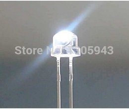 Wholesale Dip Cooler - Wholesale- New 2000pcs lot Straw Hat LED dip 5mm Ultra Bright Pure White LED Diode Round Water Clear Cool White Color 1400-1600MCD