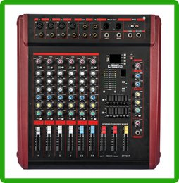 Wholesale Audio Power Mixer - Wholesale- 700W Power Audio Mixer 8 Channel For Professional Stage Live Sound System
