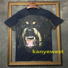 2019 nuova moda abbigliamento uomo t-shirt manica corta 3D Rottweiler maglietta di colore blu t-shirt in cotone unsex tops T-shirt di design da