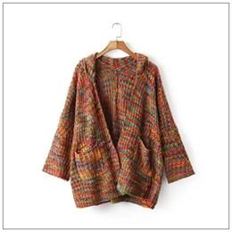 Wholesale Oversized Sweater Free Shipping - Wholesale- Free Shipping autumn fashion harajuku punk UNIF RAYA multicolour oversized sweater women cardigan