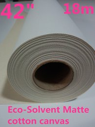 Wholesale Photo Paper Canvas - 42in Eco solvent 100% Cotton Artist Inkjet Canvas,Digital Photo to Canvas Printing roll