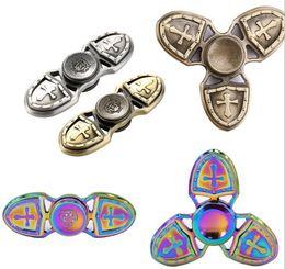 Wholesale Fly Plants - Cross dollar Flying Dragon Eagle Eye Fidget Spinner Hexagon EDC Metal Decompression Toy Tri Spinners
