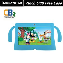 """Wholesale Q8 Dual Camera - Wholesale- 7"""" Tablet PC Android 4.42 Google A33 Quad Core 1GB+8GB WiFi Dual Camera 7 Inch Q8 Q88 Tablets PC Free Gift Baby Style Case"""