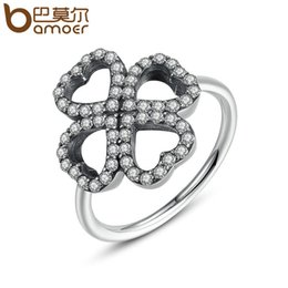 Wholesale Silver Rings For Women Cheap - Pandora Style 16mm Heart Clover Silver Color Finger Rings 3 Size Wholesale Cheap Ring for Women Fashion Jewelry PA7216