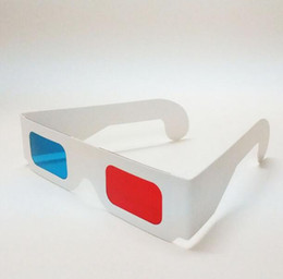 Wholesale Wholesale Computer Paper - 3 d red and blue glasses Paper glasses manufacturers selling wholesale storm dedicated computer and TV myopia