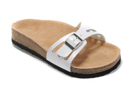 Wholesale Beach Wood Homes - New beach Sandals Cork Slippers women sandals Genuine Leather, Summer Platforms Flats Home Slippers size: 36 -- 40