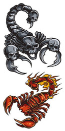 Wholesale Tattoos Scorpions - Wholesale- Temporary Tattoo Stickers Waterproof Environmental Non-toxic Body Art 3D Tattoo Stickers Scorpion