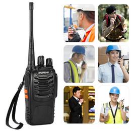 Wholesale Portable Flashlight Radio - BaoFeng® 16CH FM UHF 400-470MHz Talkie Walkie Transceiver 2-way Radio Portable Handheld Interphone Long Distance Battery Flashlight S1349EU