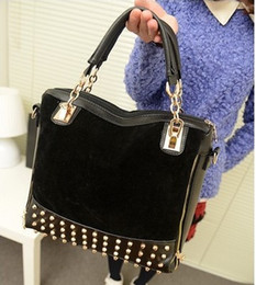 Wholesale Studded Leather Shoulder - 2012 Women bags Restore ancient Studded leather bag rivet Leather Handbags Tote Messenger Shoulder B