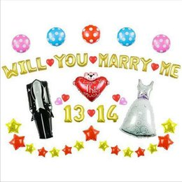 Wholesale Balloon Decor For Weddings - Valentines Day Balloons Engagement Anniversary Wedding Party Celebration Balloon Delivery Love Metallic Balloons Decor For Romantic Occasion