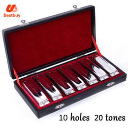 Wholesale Swan Harmonicas - wholesale Harmonica SWAN Bluesband 7 Piece Blues Harp Diatonic Harmonica Set w   Case + wipes