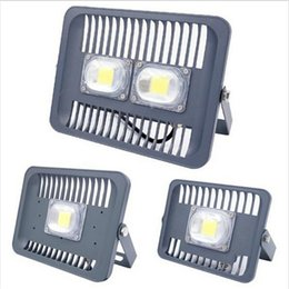 Wholesale Spotlights Fitting - LED Flood Light Waterproof IP65 30W 50W 100W 90-240V LED FloodLight Spotlight Fit For Outdoor Wall Lamp Garden Projectors