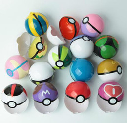 Wholesale Action Figure Design - 7cm Pikachu Figure PokeBall Poke Ball ABS Action Anime Figures Toys Gift 11 Designs Free Shipping DH3