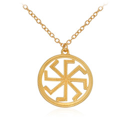 Wholesale Pagan Jewelry Wholesale - 2017 Amulet punk collar Circle Collarbone chain necklace girls Sun amulet Pagan Gold plated Pendant Necklaces statement Jewelry wholesale