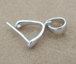 Wholesale Sterling Silver Claps - 925 Sterling Silver Jewelry Findings Components Pure Silver Pendant Clips Pendant Clasps Jewelry Claps DIY Necklace Making