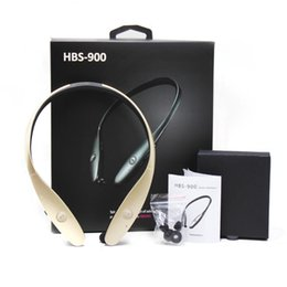 Wholesale Bluetooth Neckband Stereo Headset - For HBS 900 Wireless Bluetooth Headphone Headset Neckband Wireless Stereo Earphones Bluetooth Sport Earphone For Samsung SmartPhones