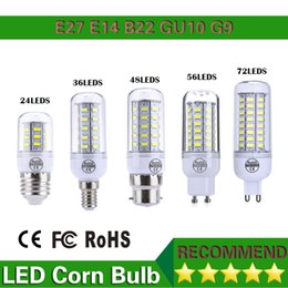 Wholesale Led 1pcs E27 - Led Lamps 220V 110V SMD5730 Led Corn Bulb Lampada Led GU10 E27 G9 B22,24LED 36LED 48LED 56LED 70LED 5730 Light,1pcs lot,led lighting