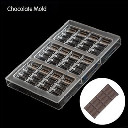 policarbonato de chocolate Desconto 15x7.4x0.8 cm * 3 xícaras Forma de Chocolate Claro Policarbonato De Plástico Molde, DIY Handmade Chocolate PC Molde, ferramentas de Chocolate