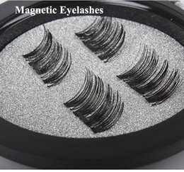 Wholesale Eyelash Kit Glue - NO Glue Required!Permanent Magnetic Eyelash Individual Eyelash Extension kit 3D Mink Reusable False Magnet 4 Pieces Magnetic Eyelashes