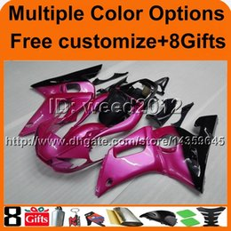Wholesale R6 Cowl - 23colors+8Gifts Body motorcycle cowl for Yamaha YZF-R6 1998-2002 98 99 00 01 02 YZFR6 1998 1999 2000 2001 2002 ABS fairing