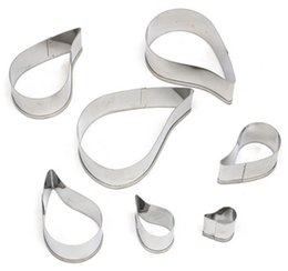 Wholesale christmas cutters - Spiral Flower Cake Mould Stainless Steel Cookie Cutter Biscuit Fondant Modeling Shape Decorating Baking Tools 7pcs