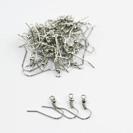 Wholesale Making Hooks - 50pcs lot DIY Earring Findings Earrings Clasps Hooks Fittings DIY Jewelry Making Accessories Iron Hook Earwire Jewelry