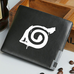Wholesale naruto wallets - Naruto wallet Unqieu logo purse Ninja cartoon short long cash note case Money notecase Leather burse bag Card holders