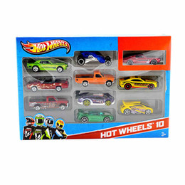 Wholesale Kid Cars Wholesale - Children's toy car1:64 Mini Hot - wheeled car 10 cars loaded alloy toy car track car model