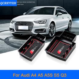 Wholesale Audi A4 Center Console - For Audi A4 A5 A5S Q3 2009-2017 LHD Car Center Console Armrest Storage Box Covers Interior Decoration Auto Accessories