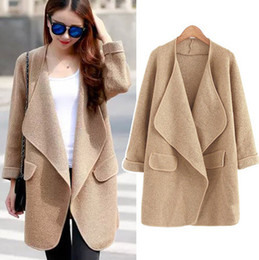 Wholesale Korea Fashion Style Coat Woman - Wholesale- Fall Winter Women Wear Sweater New Style Loose Long Sweater Coat Korea Women Casual All-Match Knitwear Cardigan Overcoat