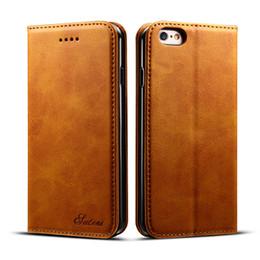 Per la copertura di protezione iPhone XS Max XR 11 Pro 8 Inoltre Samsung S9 S10 Inoltre S10e Nota 9 Scheda Portafoglio in pelle Flip Case da