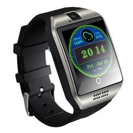 Wholesale Watch Phone Fashion - Android 4.4 Smart Watch Phone 3G GPS WiFi Fashion Wristwatch Camera Video Q18 Plus Smartwatch 512MB 4G Memory Bluetooth Clock