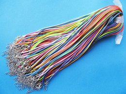 Wholesale Waxed Cord Adjustable Necklaces - 1.50mm 17-18inch Adjustable Colorful Waxed Snake Necklace Cord String Rope,1.8inch Extender Chain,12x7mm Lobster Clasp,DIY Beading Cord