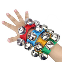 Wholesale Hand Accessories For Girls - Baby Rattles Hand Wrist Foot Bell Jingles Shake Toys Early Educational Dancing Accessories Toy for Baby Boys Girls VE0265
