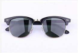 Wholesale Hottest Women Beach - 2017 Hot Sale Designer Pop Club Fashion Sunglasses Men Sun Glasses Women Retro Green G15 gray brown Black Mercury lens New Hinge 49mm 51mm