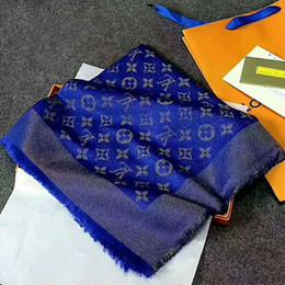 Wholesale Scarf Ponchos - 140x140cm Luxury Brand Men Silk Square Scarf Fashion 100% Design Man Scarf 2017 New Flower Print Poncho Original Cool Scarves With Box