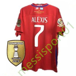 Wholesale Shirt Football Argentina - Top quality 2016 Final American jersey red Chile soccer jerseys, Argentina VS Chile ALEXIS VIDAL MEDEL football jersey shirt free shipping