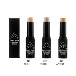 Wholesale Perfect Base - 3CE Shimmer Stick Primer Foundation Primer Stick Foundation makeup Studio Fix Foundation 3 colors Perfect Concealer Stick Face Primer Base