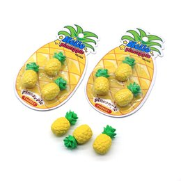 Wholesale Mini Eraser Rubber - Fruits Eraser Student Stationery Articles Exam Necessary Pineapple Shape Mini Erasers School Supplies For Kids Gift 1 5cs C R